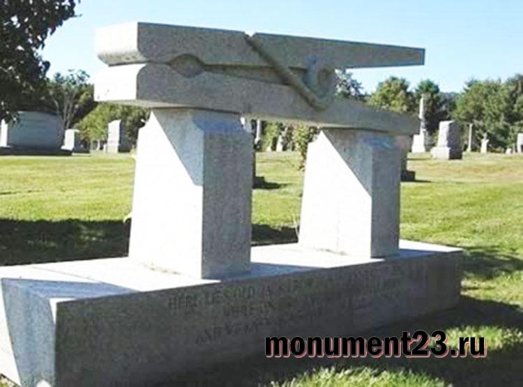 Купить памятник на кладбище Апшеронск Эконом памятник Арка Берёзово